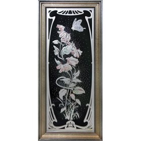 Картина Swarovski Цветы модерн