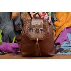 Женский рюкзак с принтом Дождливый Париж