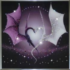 Картина с кристаллами Swarovski Сердце дракона