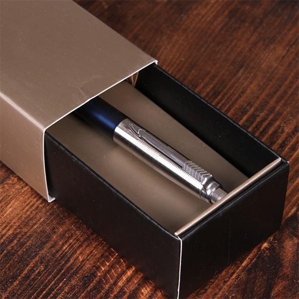 Ручка Parker с гравировкой, кнопочный механизм, цвет синий
