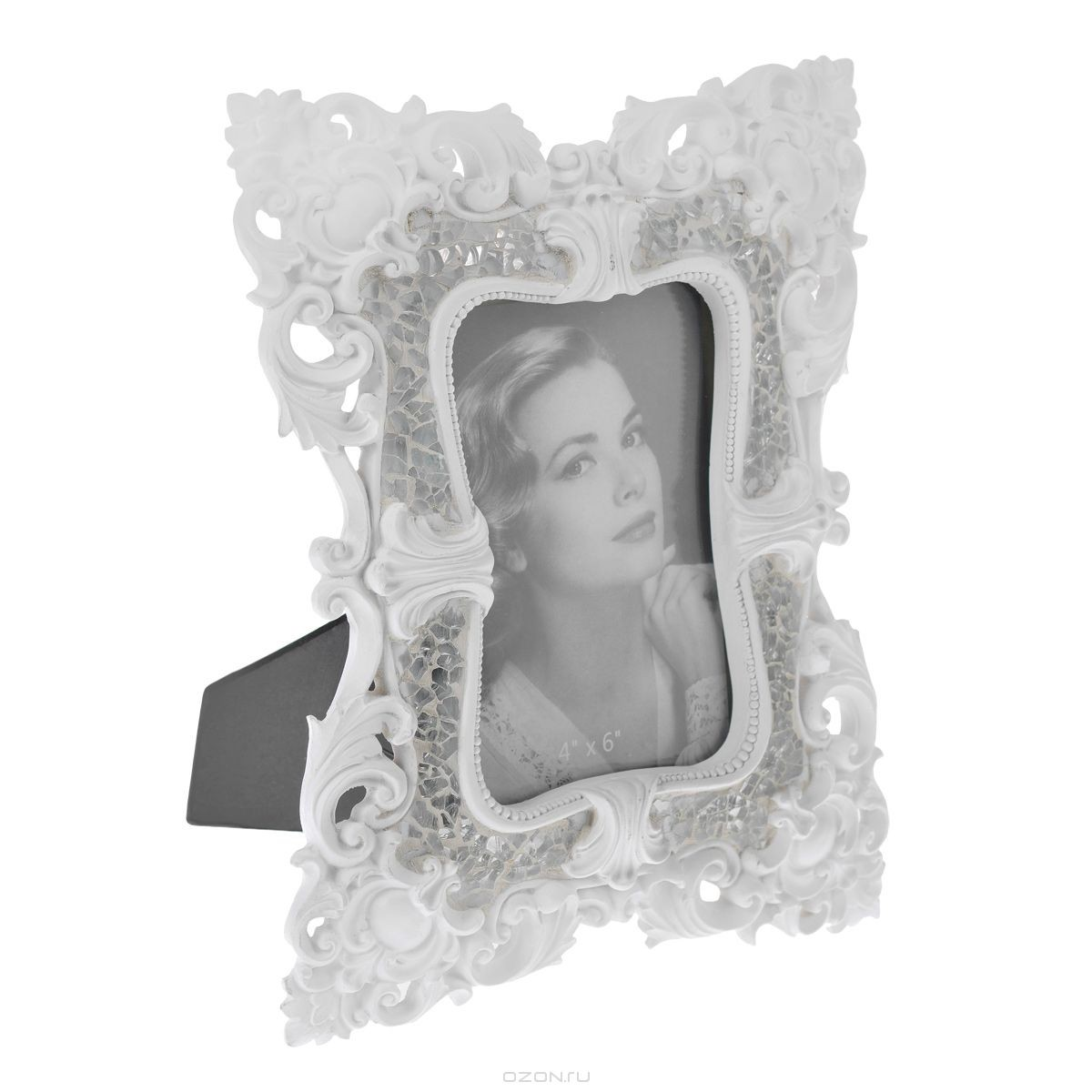Фоторамка Кружево, белая (10х15 см)