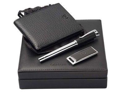 Набор Cerutti: портмоне, флешка и ручка