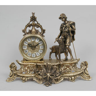 Часы-фигура из бронзы Virtus «Пастух»