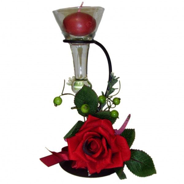 Подсвечник «Красный цветок»