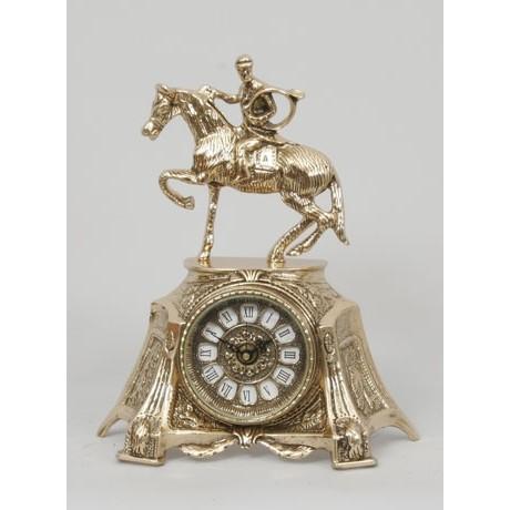 Часы бронзовые каминные Всадник