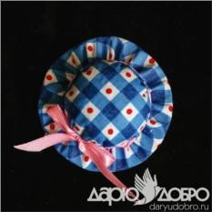 Саше голубого цвета Шляпка ART-SH04