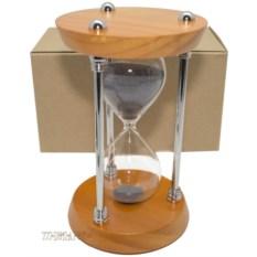 Песочные часы на 15 минут (черный песок)