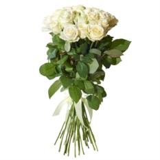 Букет из 25 высоких белых роз (60 см)