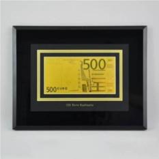 Картина с банкнотой 500 Euro в раме, закаленное стекло