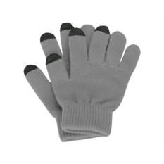 Перчатки для сенсорного экрана, серые, размер S/M