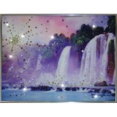 Картина с кристаллами Swarovski Долина Водопадов