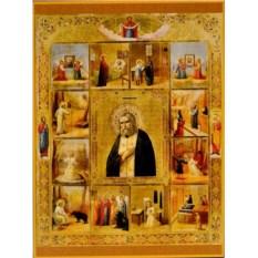 Икона Святой Преподобный Серафим Саровский в житии