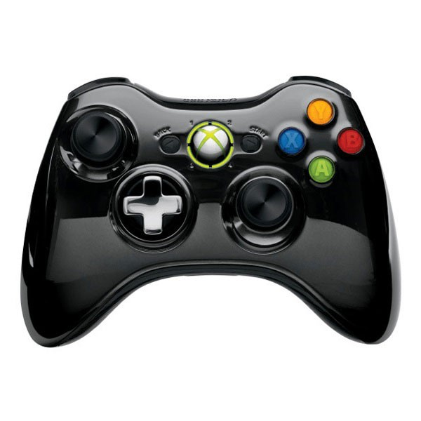 Геймпад Wireless Controller Chrome Black (Xbox 360)