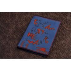 Обложка для автодокументов. Коллекция Altamira (синий; тип 1; нат. кожа)