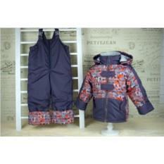 Осенний комплект из куртки и п/комбинезона
