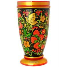 Деревянная ваза хохлома Кистейница
