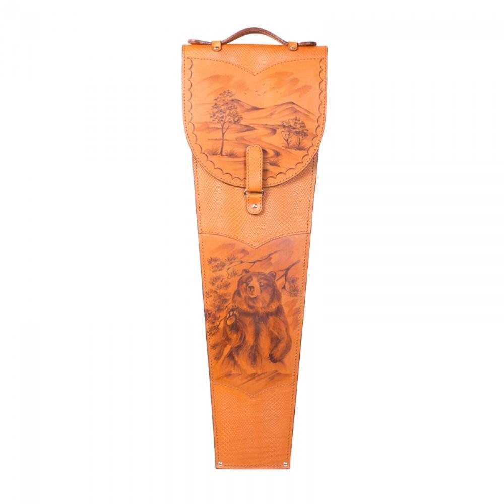 Подарочные шампура в колчане из натуральной кожи Медведь