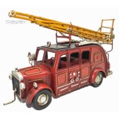 Модель пожарной ретро машины с лестницей