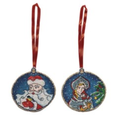 Набор для вышивания Дед Мороз и Снегурочка