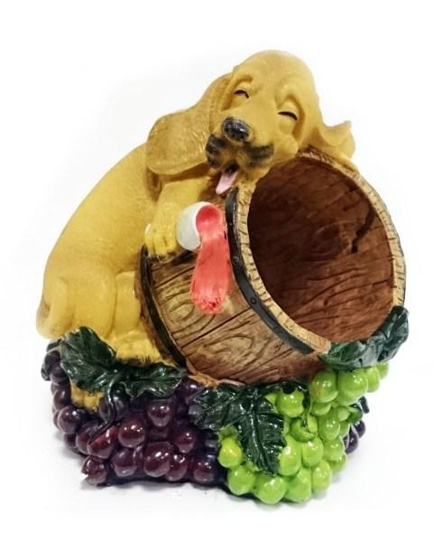 Подставка для бутылки Пьяный рыжий пес