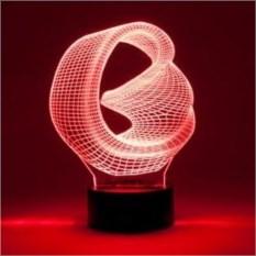 Настольная 3D-лампа Лента Мебиуса