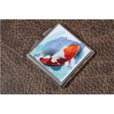 Карманное зеркальце Японская рыбка (белый)