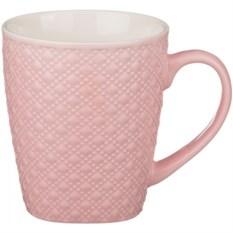 Розовая фактурная кружка, объем 250 мл
