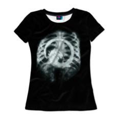 Женская 3D-футболка Чужой внутри