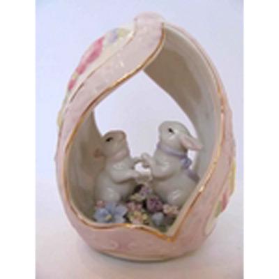 Фарфоровая статуэтка «Весёлые зайчата»