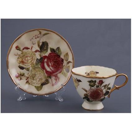 Чайный набор на 6 персон «Букет роз»