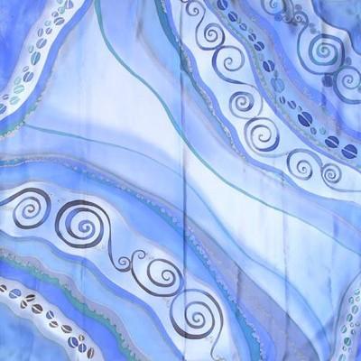 Платок из натурального шелка Калейдоскоп