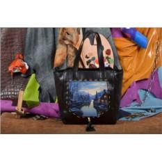 Женская сумка-шопер Город в горах