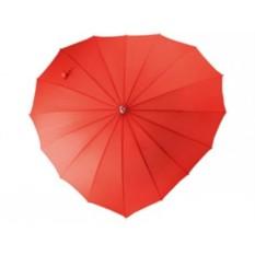 Механический зонт-трость в форме сердца I love you
