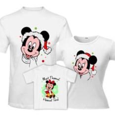 Новогодние семейные футболки Микки Маус