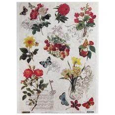 Рисовая бумага для декупажа Craft Premier Бабочки-цветочки