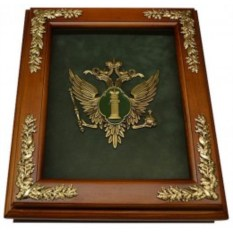Деревянная ключница Эмблема Министерства Юстиции