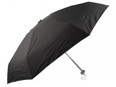Черный компактный складной механический зонт в футляре