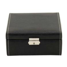 Черная шкатулка с замочком для хранения 6 часов