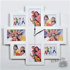 Часы Все время только ты! (белая фоторамка)
