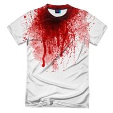 Мужская футболка 3D с полной запечаткой Кровь