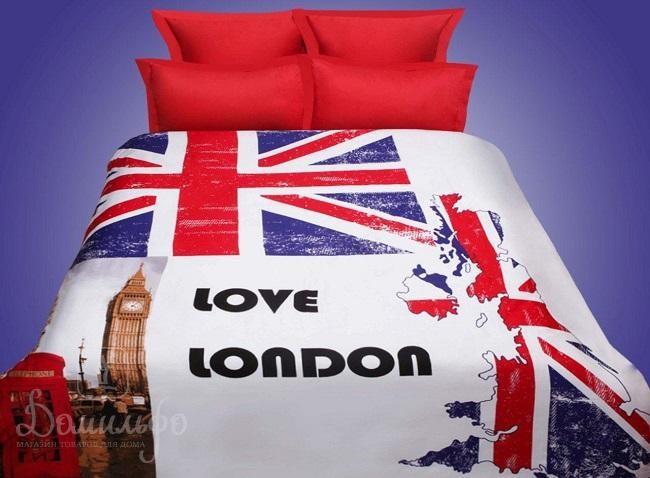 Постельное белье Love London 3D, евро
