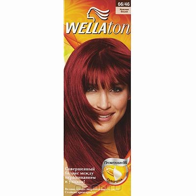 Крем-краска для волос Wellaton 66/46. Красная вишня