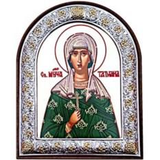 Маленькая икона в серебряной раме Татьяна Римская