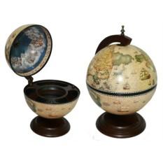 Глобус-бар Сокровища древнего мира d=33см