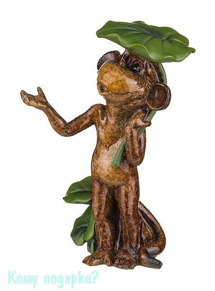 Фигурка «Обезьяна под листиком», 10x5x14 см
