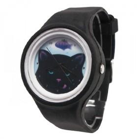 Черные силиконовые часы Cat's Dream