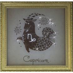 Картина с кристаллами Swarovski Козерог