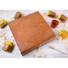Большой подарочный набор мёда «Сладкий капитал» (12 банок)