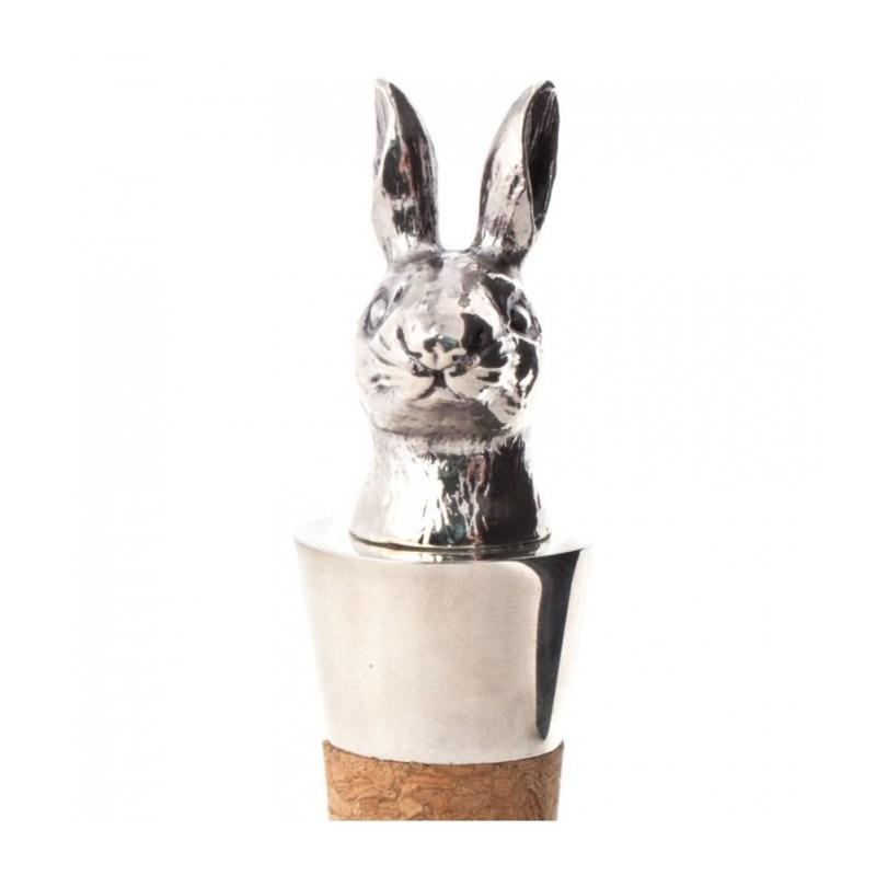 Пробка для хранения вина серебряный заяц от Kikkerland