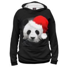 Мужское худи Панда в колпаке